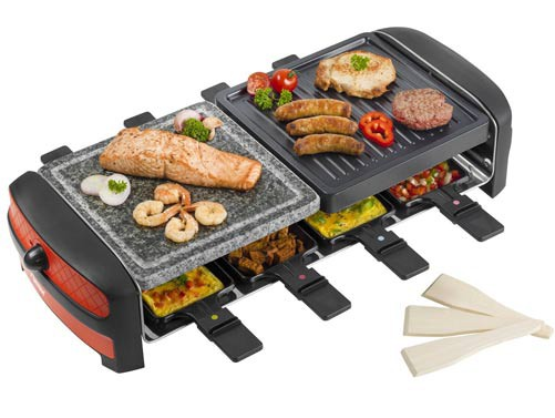 raclette hei er stein bestron arc800 racletteger t 1400 watt ebay. Black Bedroom Furniture Sets. Home Design Ideas