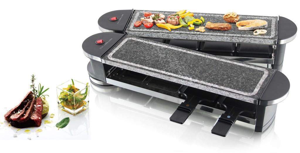 raclette hei er stein emerio rg 109528 2 k chenger te raclette. Black Bedroom Furniture Sets. Home Design Ideas