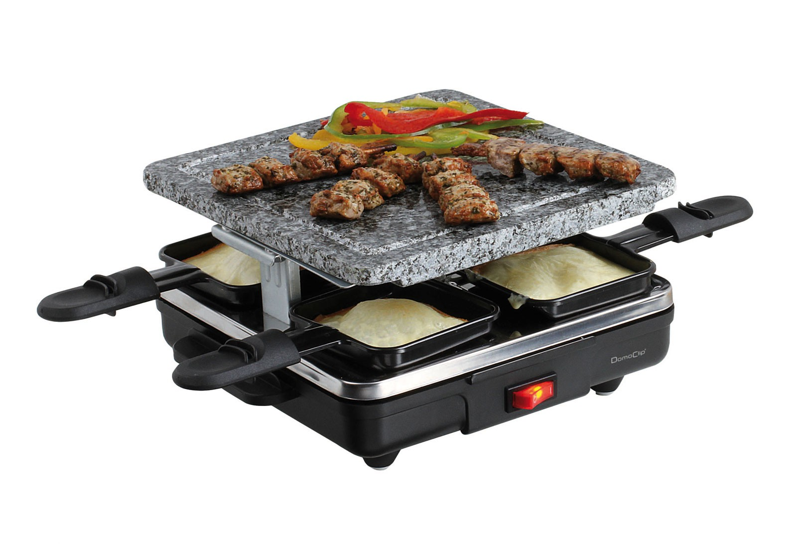 raclette hei er stein 4 pf nnchen domoclip doc162 raclette ger t party grill ebay. Black Bedroom Furniture Sets. Home Design Ideas