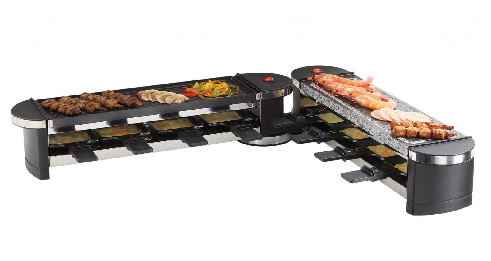 raclette hei er stein domoclip doc160 ausklappbar raclette ger t 8 pfannen grill ebay. Black Bedroom Furniture Sets. Home Design Ideas