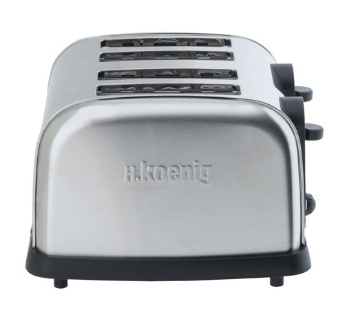 edelstahl 4 scheiben toaster h koenig tos14 k chenger te toaster. Black Bedroom Furniture Sets. Home Design Ideas