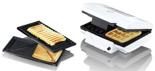 Design Multi-Toaster Sandwich, Grill und Waffel Exido 12240006